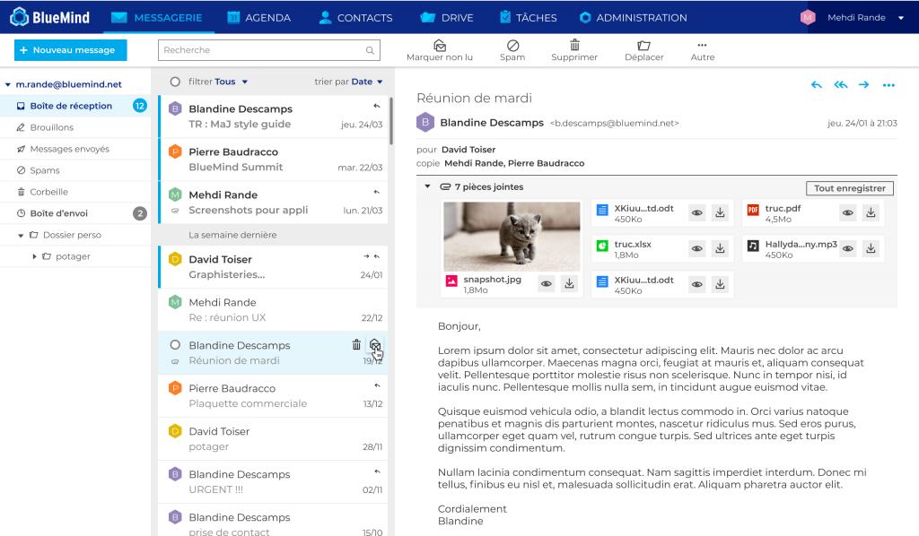 Webmail BlueMind
