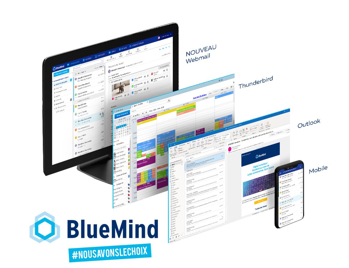BlueMind est compatible avec tous les usages de messagerie